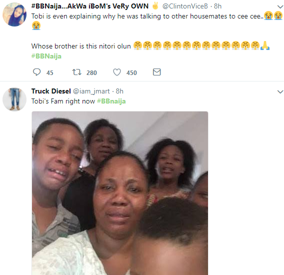 Choi! Nigerians drag #BBNaija housemate Tobi for begging Cee C
