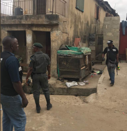 Photos: RRS wades into clash between rival cult gangs in Fadeyi and Jibowu