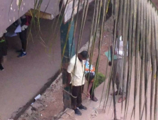 Secondary student tied to a pillar by a teacher as punishment