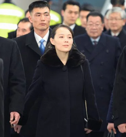 Kim Jong-un's sister becomes first in family to step foot on South Korean soil as she attends the Winter Olympics