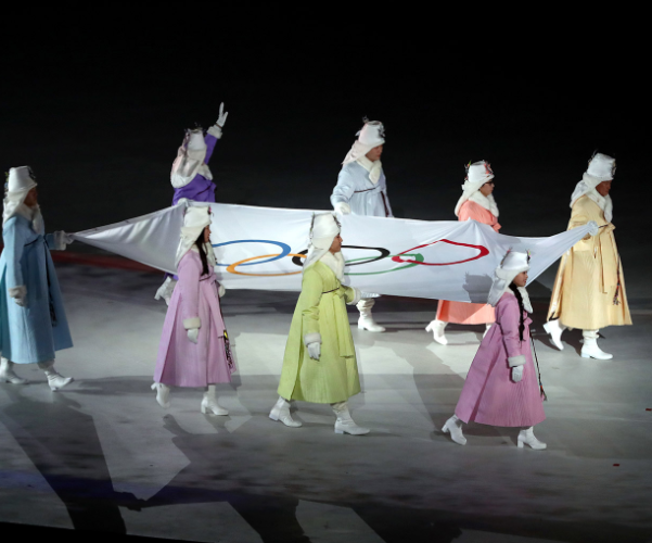 Stunning photos from the opening ceremony of the 2018 Winter Olympics in South Korea