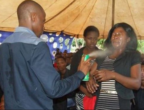 South African pastor who sprayed his followers with the insecticide has been found guilty of assault