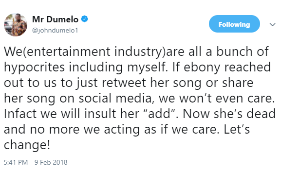 """We are all a bunch of hypocrites"" - John Dumelo"