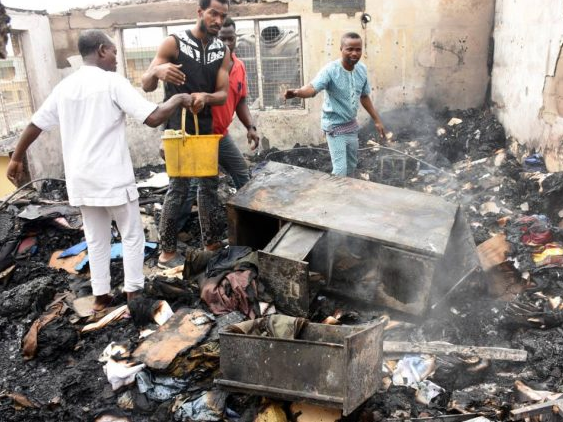 Photos:? Fire guts the Lagos office of popular fashion house, Vivid Imagination