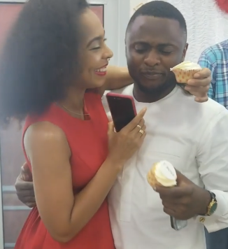 Will TBoss and Ubi Franklin make a perfect pair? See photos of them together at an event in Lagos