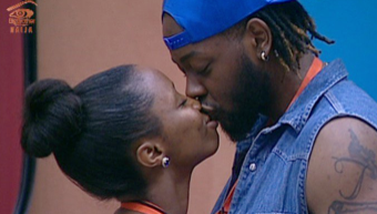 Big Brother housemates, BamBam and Teddy A share a kiss (video)