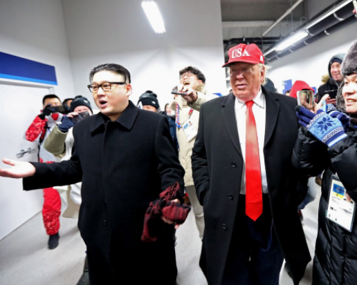 Lol! Donald Trump and Kim Jong-un impersonators thrown out of Winter Olympics opening ceremony (Photos)