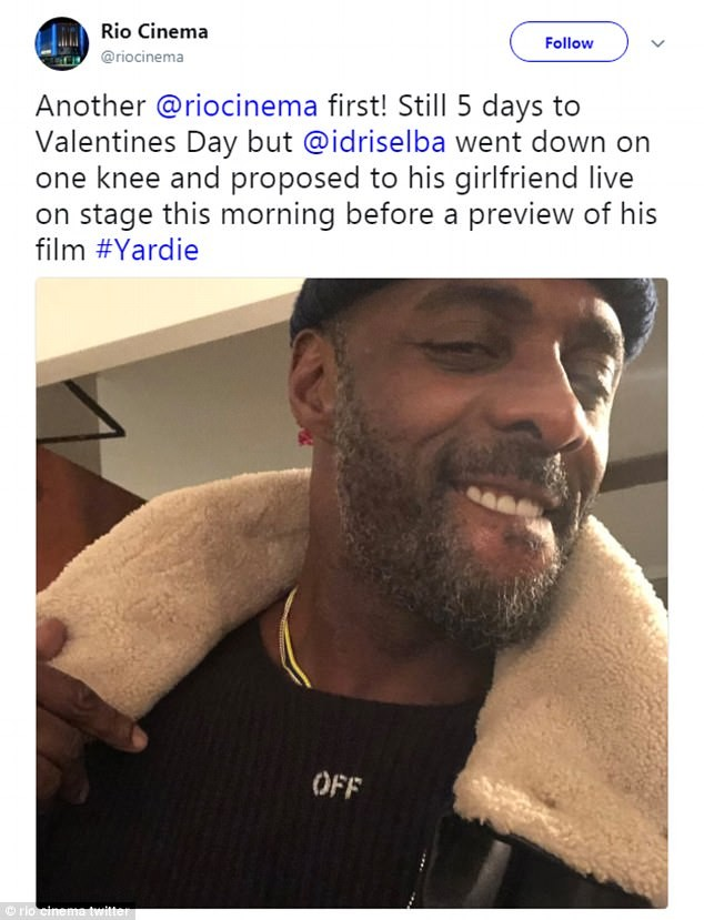 Idris Elba proposes to girlfriend Sabrina Dhowre at Movie Screening (Video)