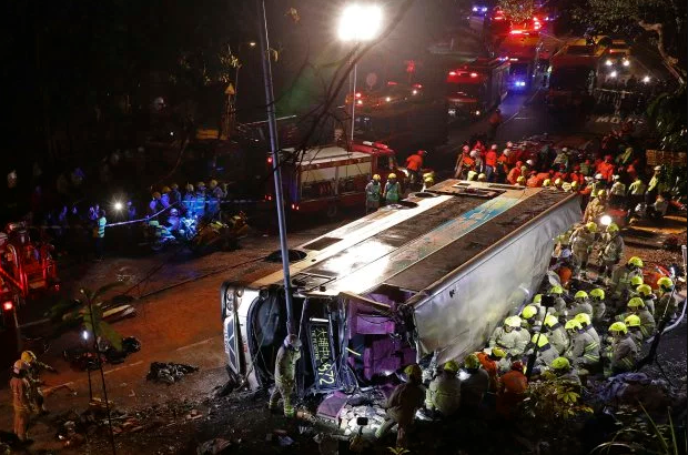 18 dead and dozens injured after high-speed double-decker bus crash in Hong Kong