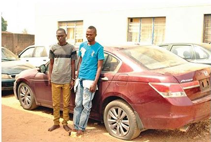 Lol!?Two fake soldiers arrested for robbing a real soldier? in Abuja