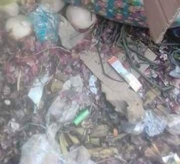 Graphic photos: Body of newborn baby found at refuse dump in Owerri