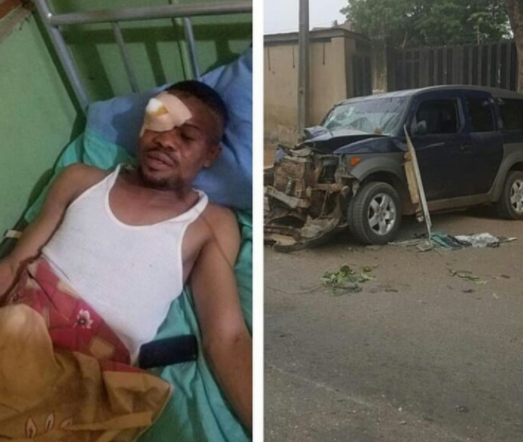 Nollywood actor,?Ayanfe Adekunle hospitalized after?surviving?terrible car accident
