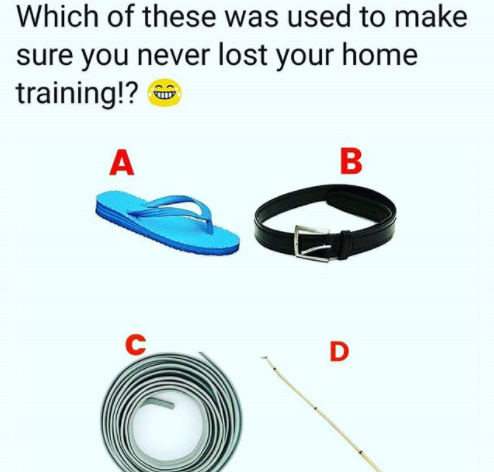Which of these was used to make sure you never lost your home training?