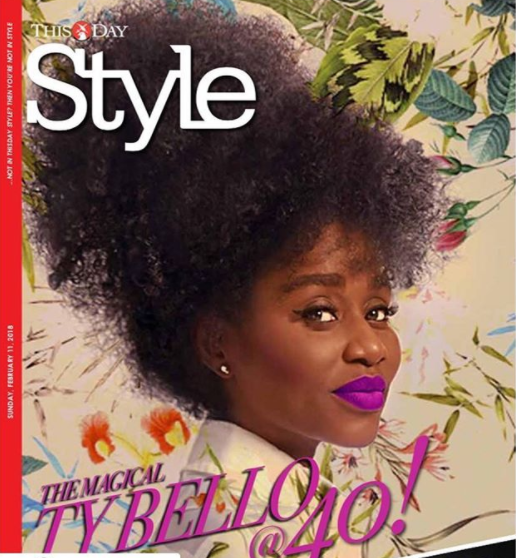 Stunning new photos of TY Bello as she covers This Day Magazine
