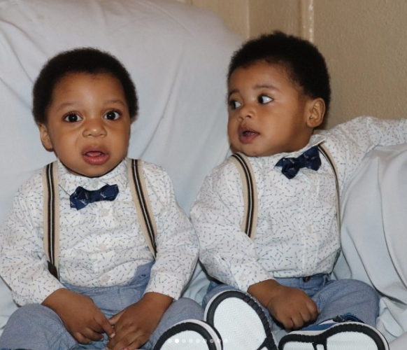 Nollywood actor, Johnpaul Nwadike, shares adorable photos of his twin boys as they celebrate their first birthday