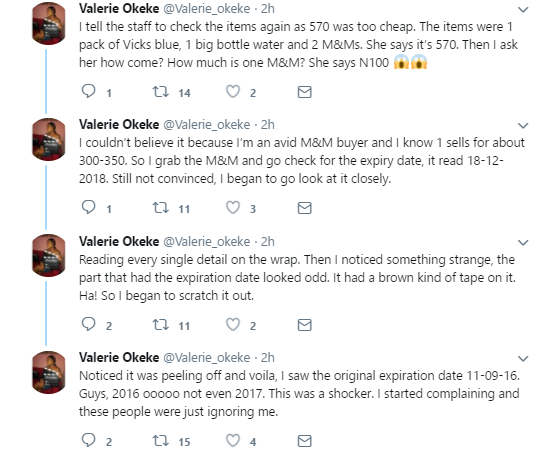 Concerned shopper exposes supermarket in Lekki for reselling expired chocolate at a cheaper price (photos)