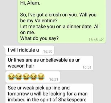 See what happened when this lady tried to shoot her shot. It didn't go down well..