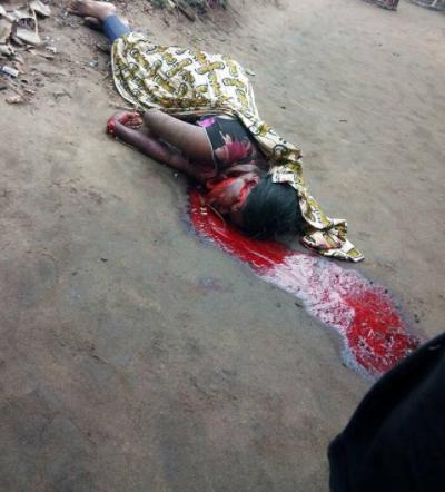 Graphic photos: Vulcanizer butchers wife in Mbiabam Ibiono, Akwa Ibom state