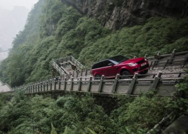 Range Rover Sport's new P400e plug-in hybrid is the first SUV to successfully climb one of the world's most challenging highways