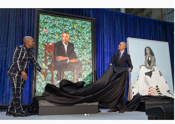 Portraits of Barrack and Michelle Obama unveiled at National Portrait Gallery (Photos)