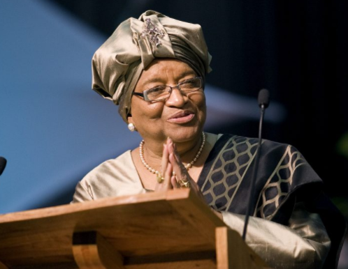Africa's first female president, Ellen Johnson Sirleaf, has been awarded a $5 million prize for excellence in leadership