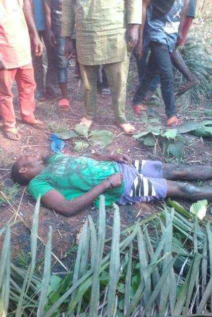 Photos: Farmer hacked to death by suspected Herdsmen in Kogi