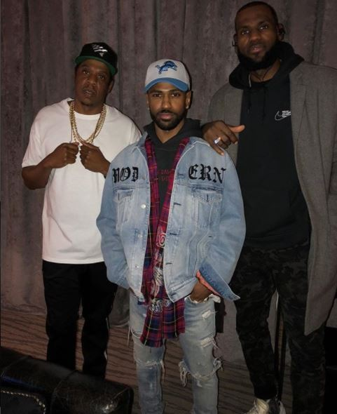 Jay-Z, Big Sean and Lebron James?pose for cute pic