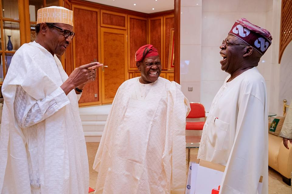 Photos: President Buhari meets with APC leaders Asiwaju Bola Ahmed Tinubu and Chief Bisi Akande