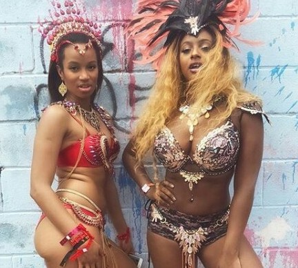Photo: DJ Cuppy looks smoking hot in bejeweled bikini for Trinidad Carnival
