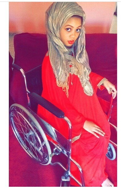 Photos of a stunning and stylish Hausa young  lady confined to wheelchair