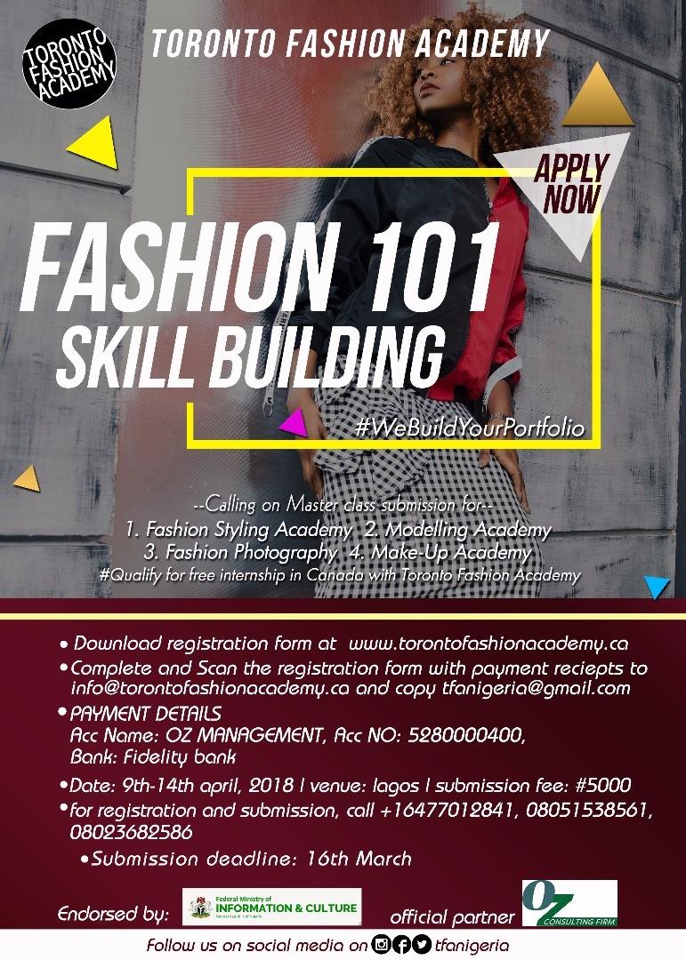 Toronto Fashion Academy Targets Nigerian Talents