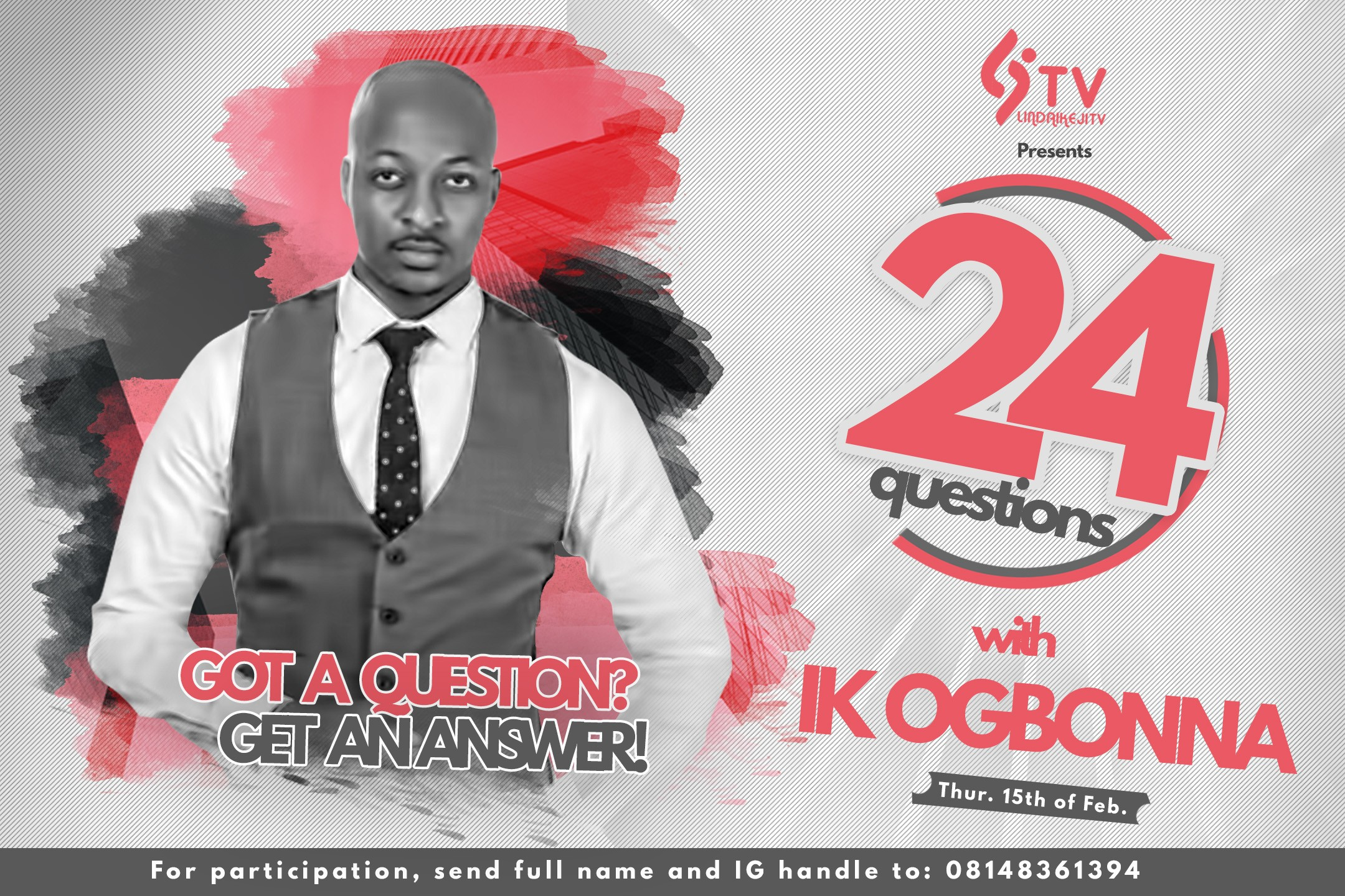 Dear fans, meet IK Ogbonna on Linda Ikeji TV's 24 Questions With...