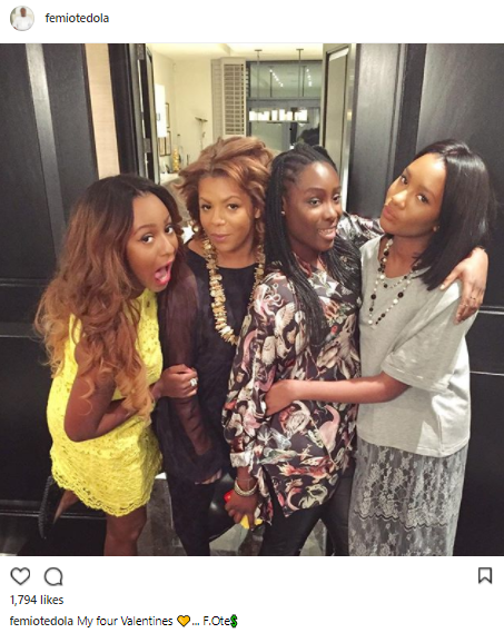 Valentine's Day: Femi Otedola celebrates his wife & daughters