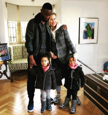 Cute photo of footballer, Mikel Obi and his family