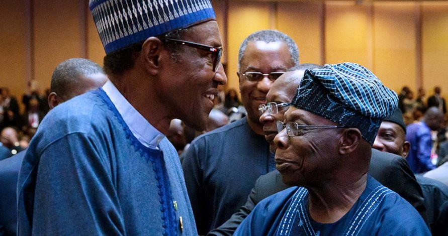 ''Fight corruption on your nose'' Ex President Obasanjo tells President Buhari