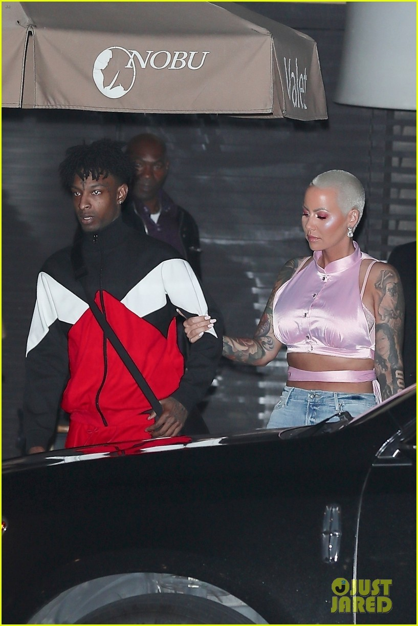 Is everything okay? Amber Rose and beau 21 Savage looked unhappy after celebrating their first Valentine