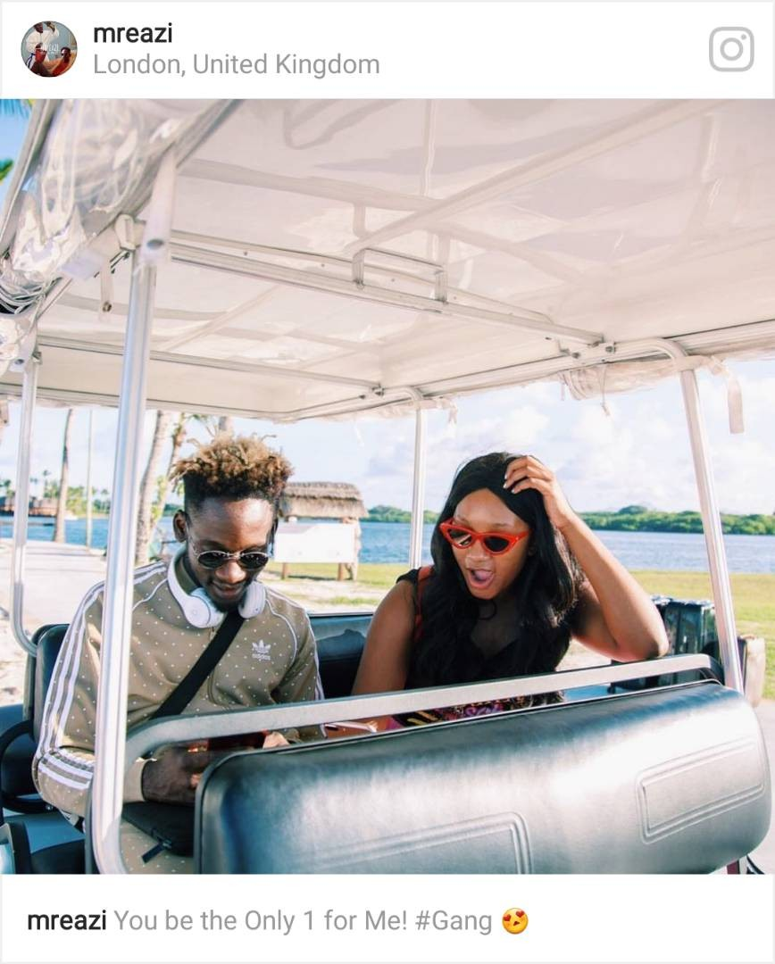 """You be the Only 1 for me"" Mr Eazi gushes about Temi Otedola"
