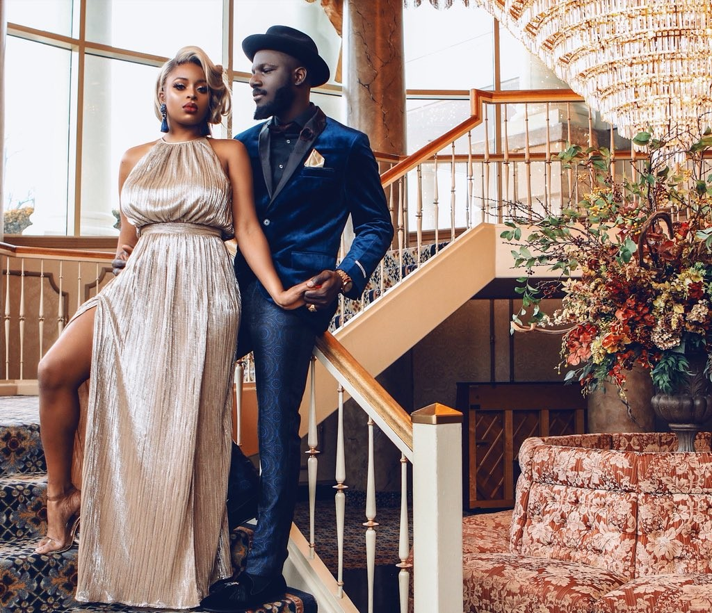 Nigerian couple share lovely pre-wedding photos they took themselves