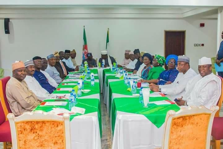2019 election: Bola Tinubu meets APC governors(photos)