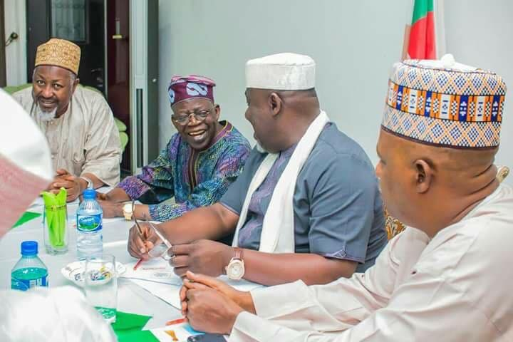 2019 election: Bola Tinubu meets APC governors(photos)
