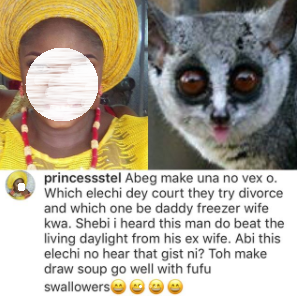OAP Daddy Freeze compares a hater to a primitive mammal after she accused him of beating his ex-wife
