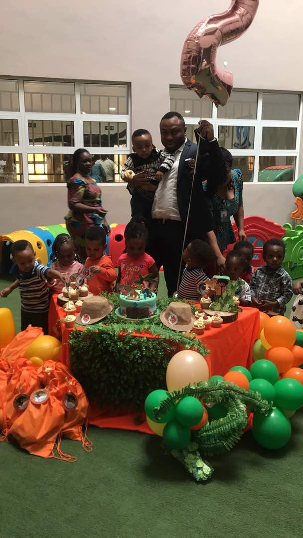 First Photos of Tonto Dikeh and her estranged hubby, Churchill Olakunle at their son, King