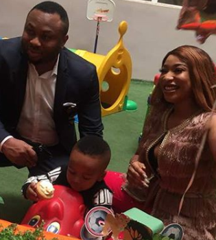 More photos of Tonto Dikeh and Churchill Olakunle at their son, King's 2nd birthday party