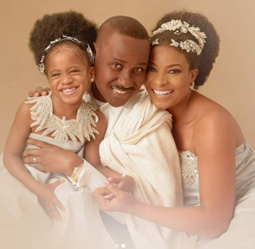 Ex-beauty queen, Ibidun Ighodalo and her hubby, Ituah, celebrate 11th wedding anniversary
