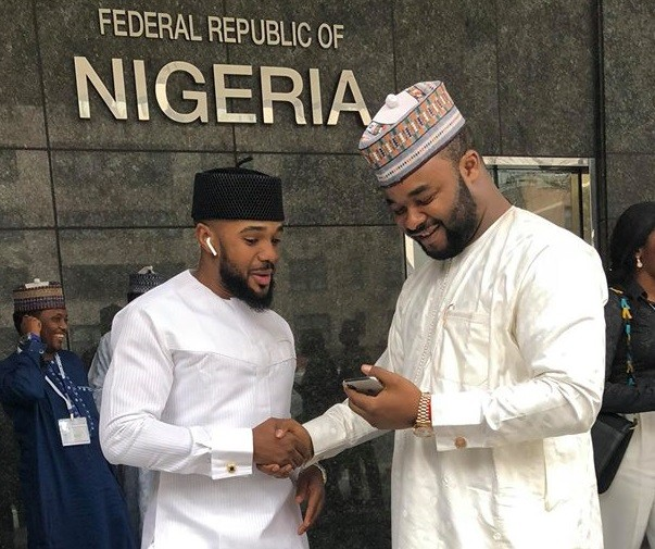 Y'all won't believe what people noticed about these seemingly-perfect photos of actor Williams Uchemba & Amb Aminu Danladi (Find Out)
