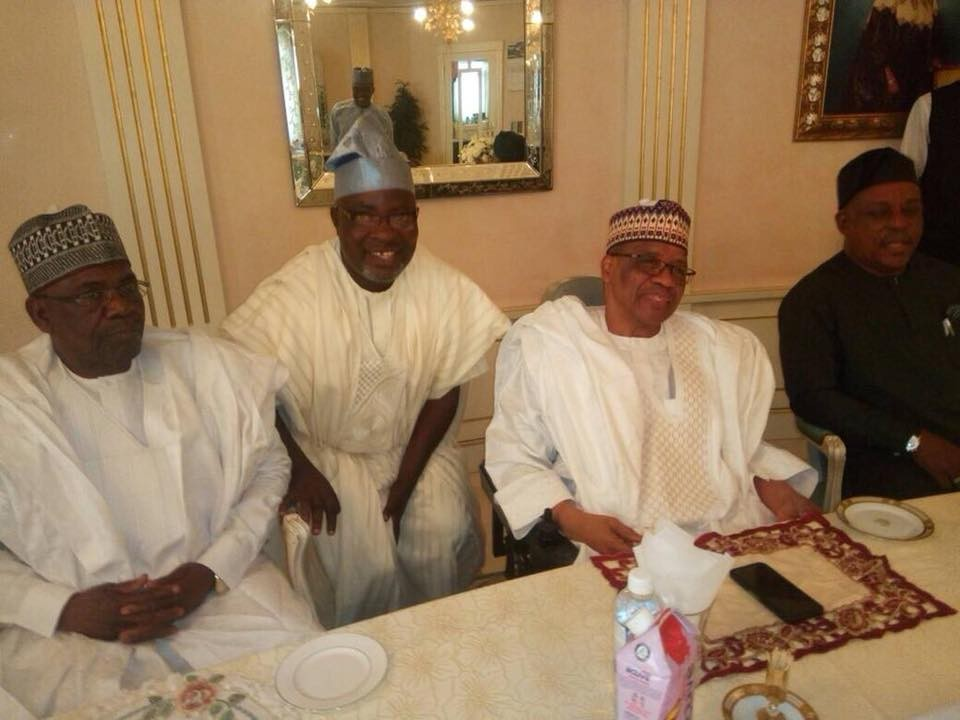2019 election: PDP officials pay courtesy visit to ex-Military leader, Ibrahim Babangida(photos)