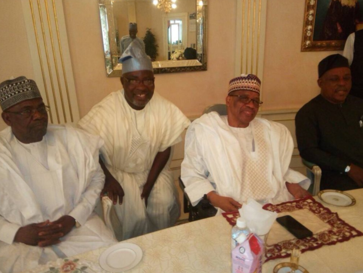 PDP National Chairman, Uche Secondus leads a delegation to visit Ibrahim Babangida in Niger State