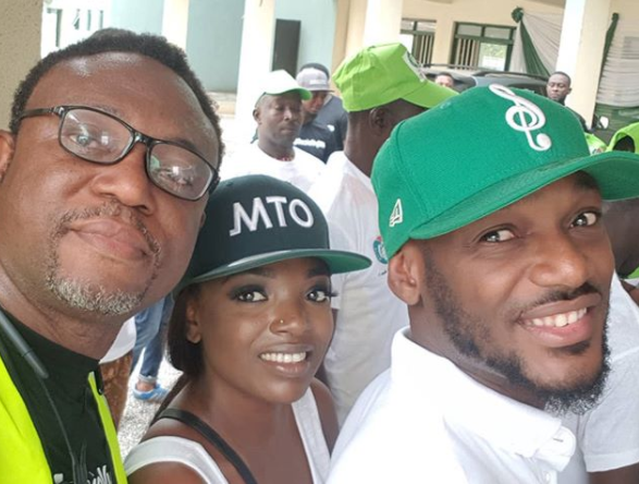 Photos: 2face and Annie Idibia lead?campaign to mobilize for voters Registration