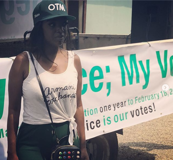 Photos: 2face and Annie Idibia lead campaign to mobilize for voters Registration