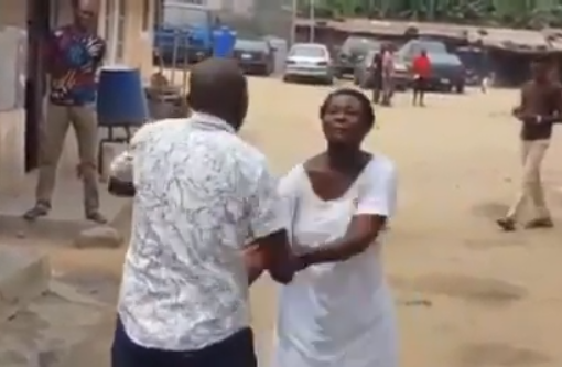 Viral Video: Pastor gets a slap on the head while trying to deliver a mentally challenged?woman in Lagos